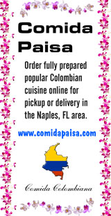 Order fully prepared popular Colombian cuisine
